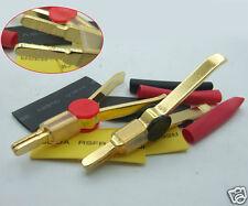 1PCS Copper Gold 10A Kelvin Clip 20cm Northbridge LCR Test Clips Shrinkable Tube