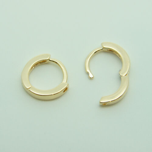 18k yellow Gold plated huggie hoop 10mm sleeper earrings Non-allergenic AUS MADE