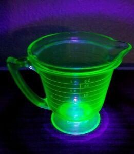 Vintage T&S Green Uranium Depression Glass Measuring Cup ...