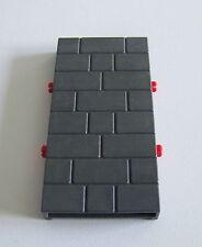 PLAYMOBIL (L3254) MOYEN-AGE - Mur Gris Foncé Forteresse Dragon Rouge 3269