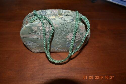 Vintage Oriental Silk Box Purse