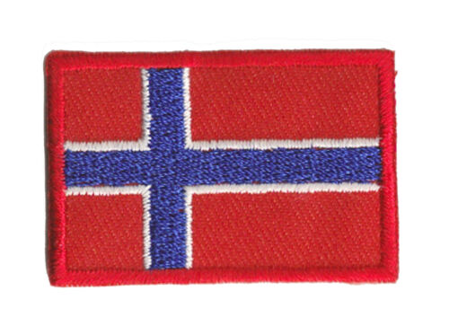 Small Patch Badge Norway Patch Fusible Badge 45 x 30 MM