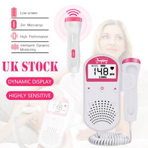 Ultrasonic Fetal Doppler Detector Mini LCD Baby Heartbeat Heart Rate Monitor UK
