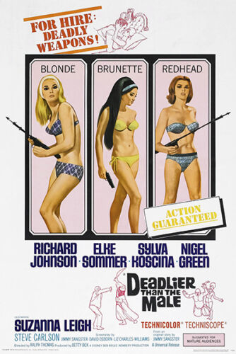 Deadlier Than The Male 1967 Movie Poster