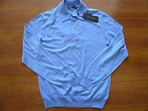 M 100 azul 888132034656 Lauren 495 In Nwt Italy made Sz suéter algodón Ralph qnfBWwR8