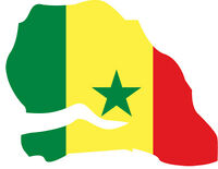 Sticker Autocollant Drapeau Carte Senegal 26 X 21 Cm Tuning Deco Maison