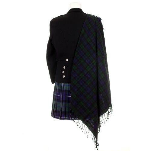 NEUF Scottish Highland Premium Traditionnel 100/% laine FRANGES Fly Plaid BNWT