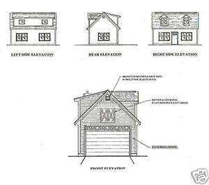 16x24 1 car garage garden potting shed building blueprint plans w image is loading 16x24 1 car garage garden potting shed building malvernweather Gallery