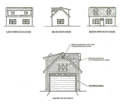 Home improvementbuilding hardware building plans blueprints 16x24 1 car garage garden potting shed building blueprint plans w open attic malvernweather Gallery