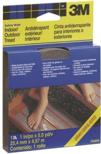 """NEW 3M 7646 1/"""" X 180/"""" GRAY OUTDOOR NON SKID SAFETY GRID TREAD TAPE 6962724"""
