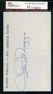 Dom-Dimaggio-JSA-Coa-Autograph-Hand-Signed-3x5-Index-Card