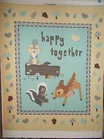 Bambi Thumper Flower Disney Quilt Panel Happy Together Cream 36 X 44