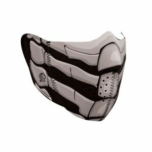 Glow In Dark Skull Bone Breath Neoprene Motorcycle Half Face Mask Ski Gear Ebay