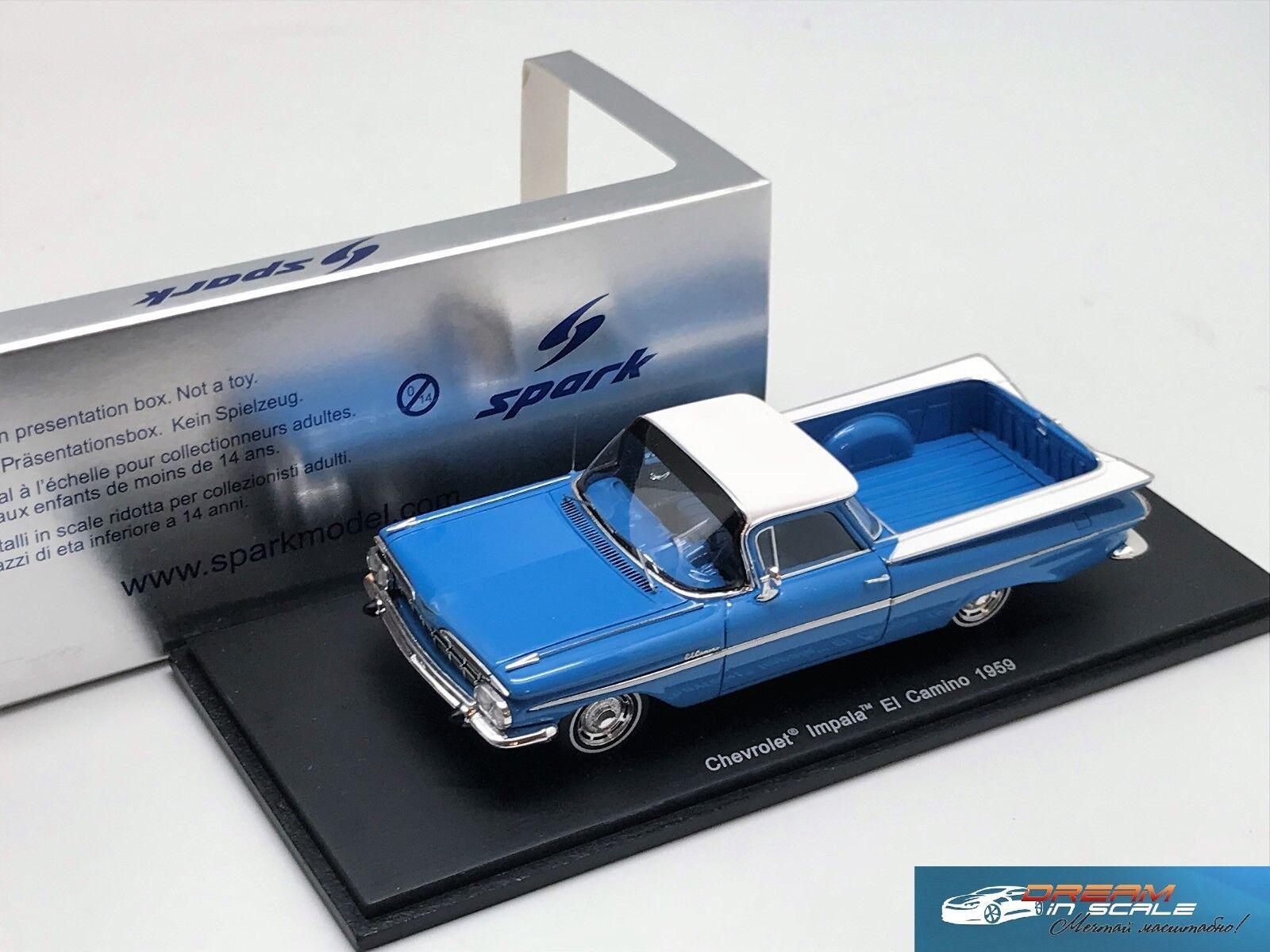 Nuevos productos de artículos novedosos. Chevrolet Chevrolet Chevrolet Impala El Camino 1959 S2906 Resina 1 43  80% de descuento