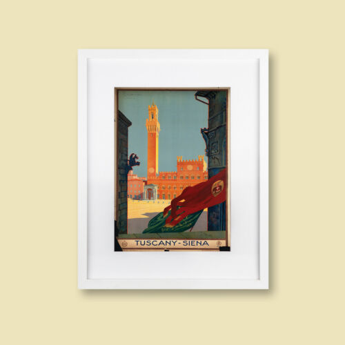 Italy Tuscany retro advertising print framed /& unframed various sizes
