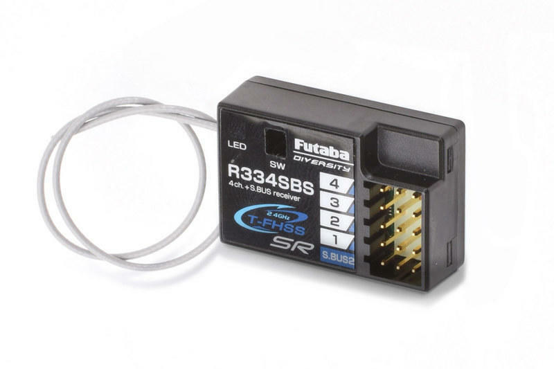 Nuevo Futaba R334SBS S.Bus2 T-FHSS Sr HV 4 canales receptor coches rc drift para 7PX