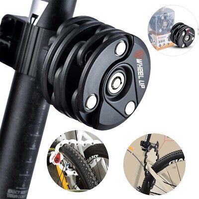 3 Schlüssel Fahrrad Anti Diebstahl Roller Sicherheit Stahl Faltschloss Kette