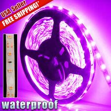 Pink 5M 16.4ft Waterproof 3528 SMD 300 leds Flexible Strip decoration Lights 12V