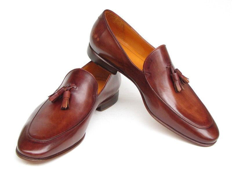 sport caldi Paul Parkman Uomo Tassel Tassel Tassel Loafer Marrone Hand Painted Leather Handmade scarpe  prendi l'ultimo