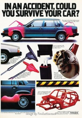 1986 Volvo 740 760 Safety Original Advertisement Print Art Car Ad J646