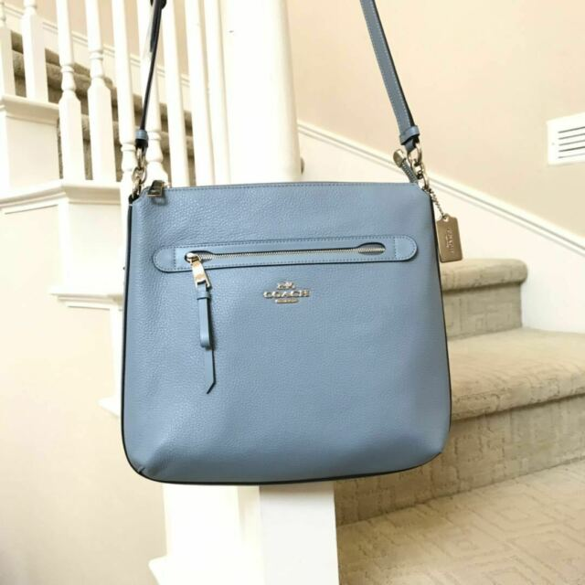 09eaffc42adc0 Coach F34823 Pebble Leather Mae Crossbody Bag in Cornflower for sale ...