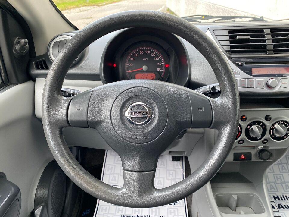 Nissan Pixo 1,0 Visia Benzin modelår 2010 km 162000 Hvid ABS