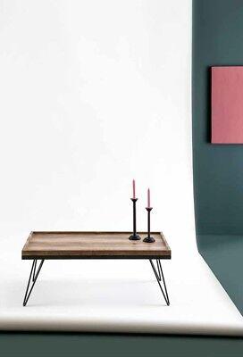 couch tisch wohnzimmer tisch design tischplatte eiche f e schwarz 110x60 cm ebay