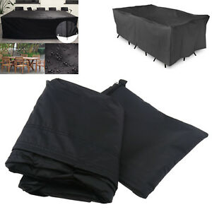 Outdoor-Yard-Garden-Patio-Waterproof-Table-Chair-Set-Furniture-Cover-Black