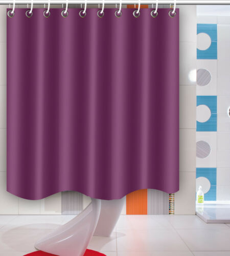 2 Of 12 11 Type Solid Color Shower Curtain Bathroom Waterproof Fabric Home Decor Mat Set