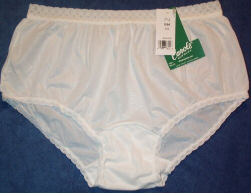 3 Pair White Size 5 EMBOSSOLON 100/% Nylon Hip Hugger Panties USA Made