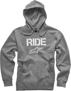 Heather cappuccio Alpinestars In Grey Felpa Pullover con Ride 6a5qwg