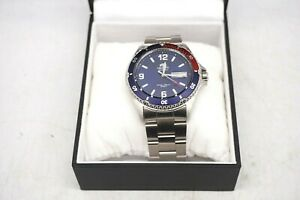 Orient-Mako-II-034-Pepsi-034-41-5-mm-Automatic-Stainless-Steel-Diving-Men-039-s-Watch