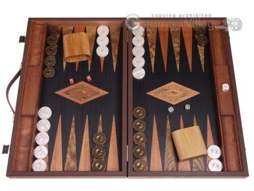 Laurel Backgammon Set - Large - Black FieldClassic Board Game