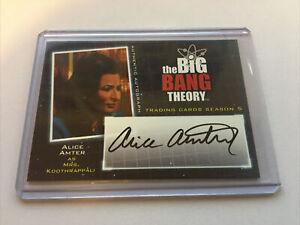 2013 Big Bang Theory Season 5 A21 Alice Amter As Mrs Koothrappali Auto Card Ebay Koothrappali, the big bang theory, sitcoms and of course.the apocalypse!! ebay