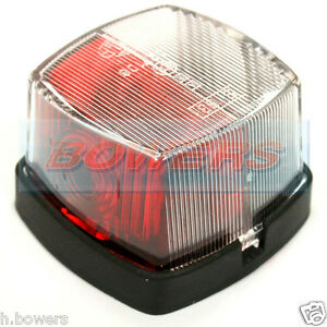 HELLA 883 RED WHITE CLEAR SQUARE SIDE MARKER LAMP LIGHT ABBEY COACHMAN CARAVAN