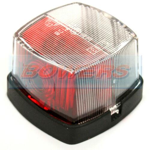 HELLA 883 Rojo Blanco Lámpara de luz de posición laterales transparentes cuadrado Abbey cochero caravana
