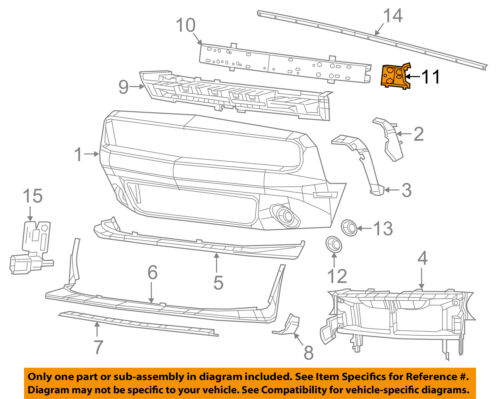 Dodge CHRYSLER OEM 15-18 Challenger Front Bumper-Extension Right 68174978AA