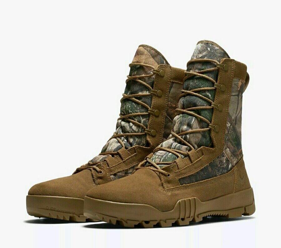 NIKE SFB 8  JUNGLE REALTREE  Size 10  Camo- Tan 845168-990 Mens Boot NIB  RARE