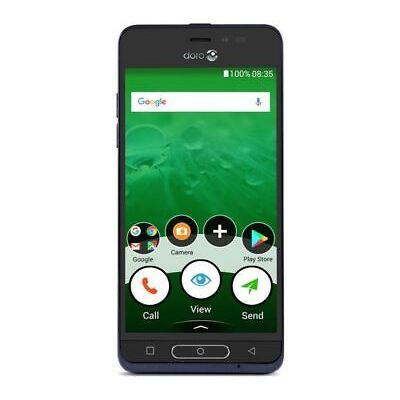 "Doro 8035 Smartphone 5"" 16GB Android 7.1 Nougat Blue Unlocked Sim Free Grade C"