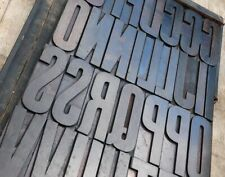 Huge Wood Type Character 709 You Choose Your Letter Letterpress Abc Font
