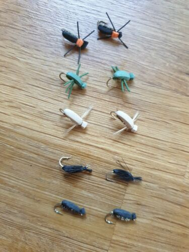 106A 10 X ASSSORTED BEETLES//TERRESTRIAL FISHING FLIES SIZE 12 BY AQUASTRONG