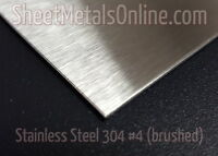 Brushed Finish Stainless Steel Sheet Metal 304 4 24 Gauge 12 In. X 10 In.