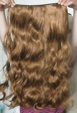 """Ginger Red Brown 5 Clip One Piece Ondulata Riccia Lunga 22"""" CLIP IN ON Hair Extension"""