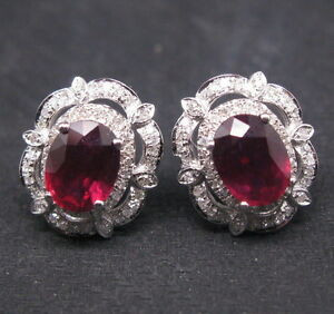 GORGEOUS-4-03CT-SOLID-14Kt-WHITE-GOLD-NATURAL-VS-BLOOD-RUBY-DIAMOND-EARRINGS
