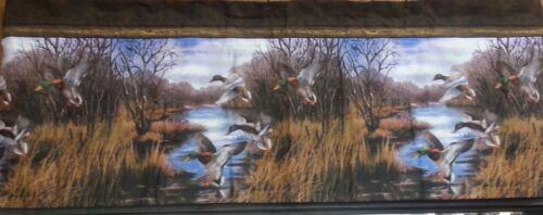 "Blue Ridge Trading Duck Approach Fabric Shower Curtain 72/"" x 72/"" Mallards Bath"