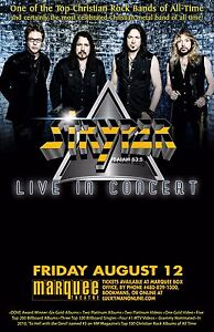 Details about STRYPER 2016 PHOENIX CONCERT TOUR POSTER - Top Christian Rock  Bands Of All Time!