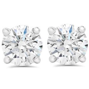 F-SI-1-50-ct-Round-Round-Diamond-Studs-with-Screw-Backs-14k-White-Gold-Enhanced
