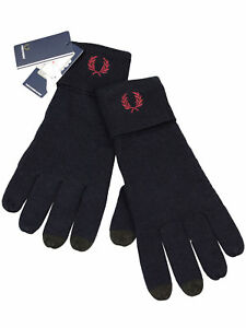 Fred-Perry-Handschuhe-C2110-608-Wolle-Wool-Gloves-Navy-Dunkelblau-7296
