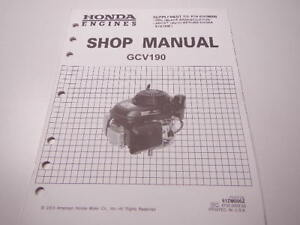 honda gcv 190 shop manual
