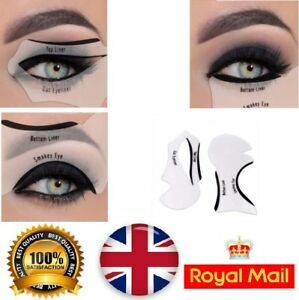 Image is loading 2x-Cat-Eye-Stencils-Guide-Smokey-Winged-Eyeliner-
